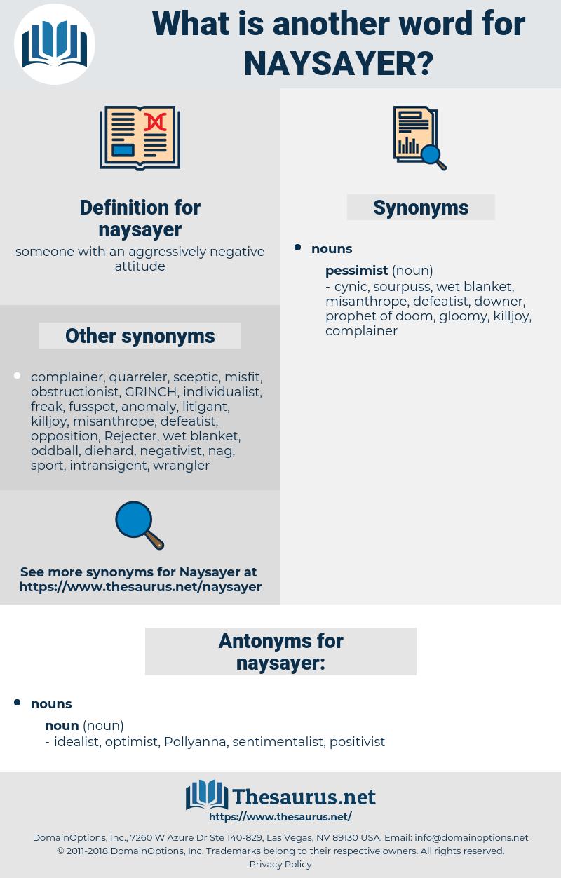 naysayer, synonym naysayer, another word for naysayer, words like naysayer, thesaurus naysayer