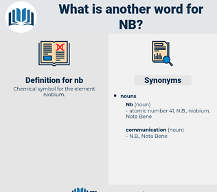 nb, synonym nb, another word for nb, words like nb, thesaurus nb