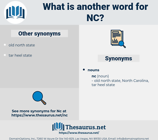 nc, synonym nc, another word for nc, words like nc, thesaurus nc