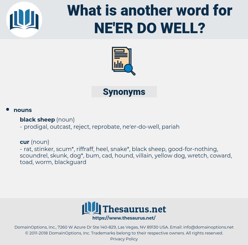 ne'er-do-well, synonym ne'er-do-well, another word for ne'er-do-well, words like ne'er-do-well, thesaurus ne'er-do-well