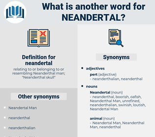 neandertal, synonym neandertal, another word for neandertal, words like neandertal, thesaurus neandertal