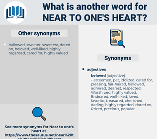 near to one's heart, synonym near to one's heart, another word for near to one's heart, words like near to one's heart, thesaurus near to one's heart