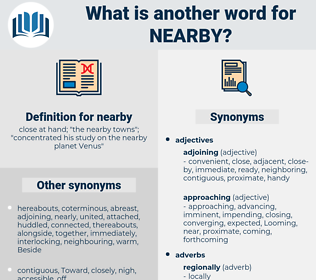 nearby, synonym nearby, another word for nearby, words like nearby, thesaurus nearby