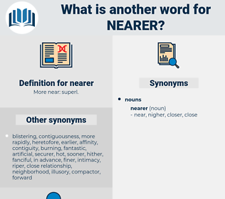 nearer, synonym nearer, another word for nearer, words like nearer, thesaurus nearer