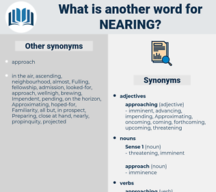 Nearing, synonym Nearing, another word for Nearing, words like Nearing, thesaurus Nearing