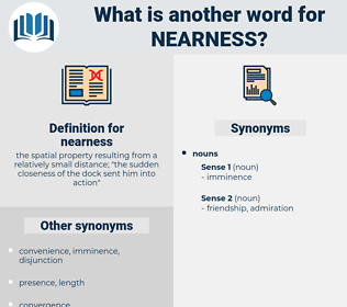 nearness, synonym nearness, another word for nearness, words like nearness, thesaurus nearness