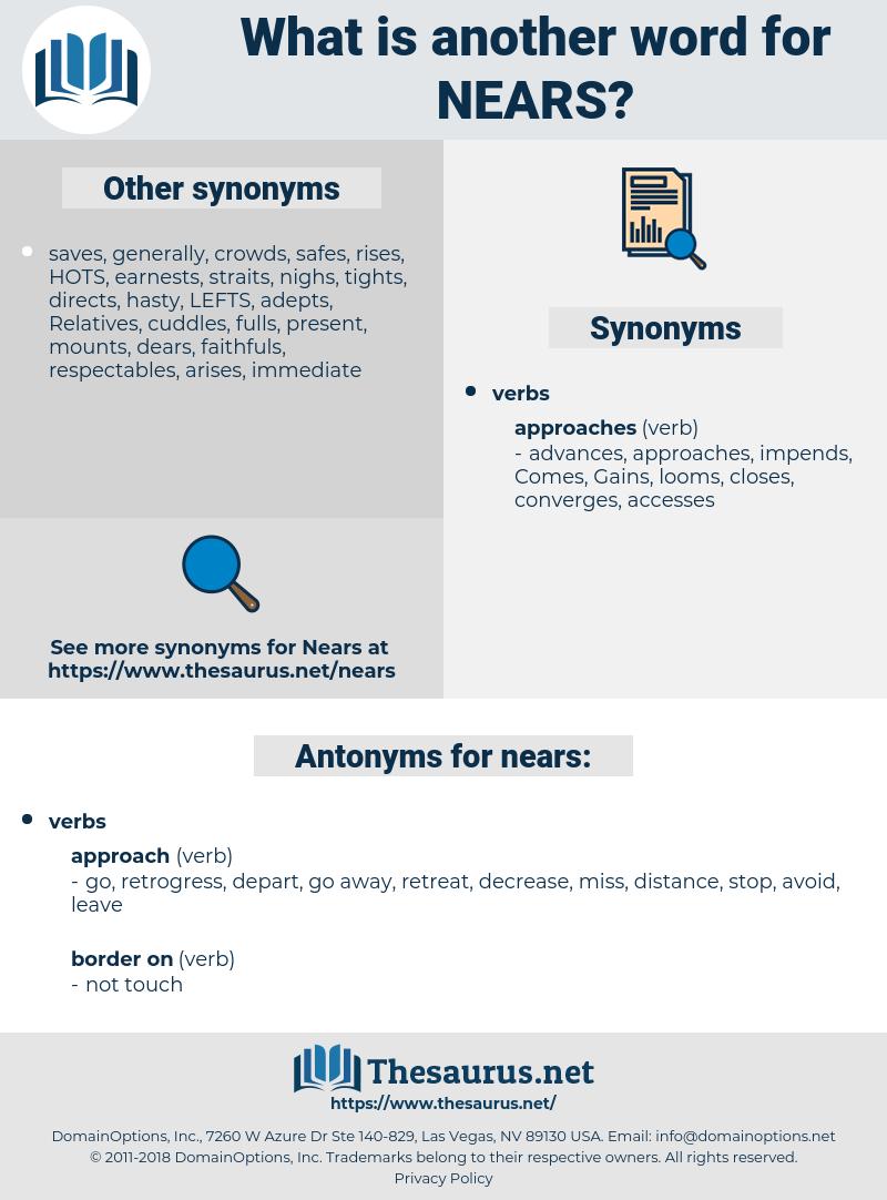 nears, synonym nears, another word for nears, words like nears, thesaurus nears