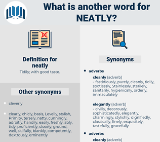 neatly, synonym neatly, another word for neatly, words like neatly, thesaurus neatly