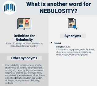 Nebulosity, synonym Nebulosity, another word for Nebulosity, words like Nebulosity, thesaurus Nebulosity
