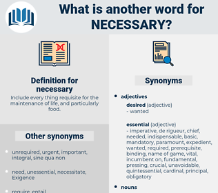 necessary, synonym necessary, another word for necessary, words like necessary, thesaurus necessary