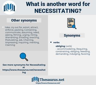 Necessitating, synonym Necessitating, another word for Necessitating, words like Necessitating, thesaurus Necessitating