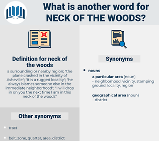 neck of the woods, synonym neck of the woods, another word for neck of the woods, words like neck of the woods, thesaurus neck of the woods