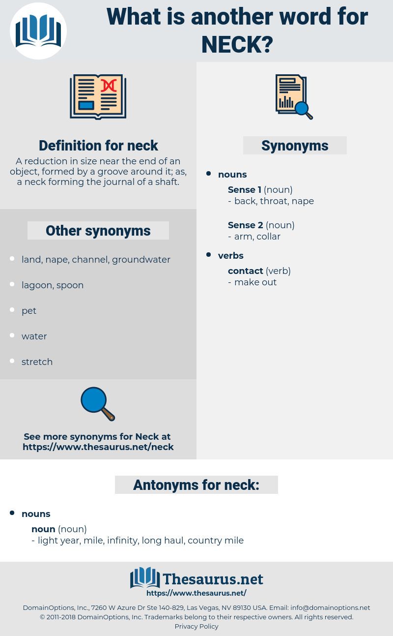 neck, synonym neck, another word for neck, words like neck, thesaurus neck
