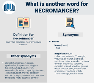 necromancer, synonym necromancer, another word for necromancer, words like necromancer, thesaurus necromancer