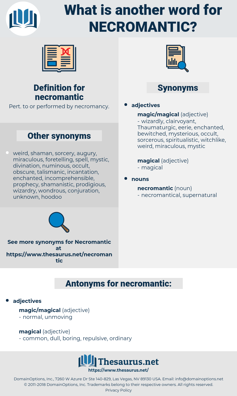 necromantic, synonym necromantic, another word for necromantic, words like necromantic, thesaurus necromantic