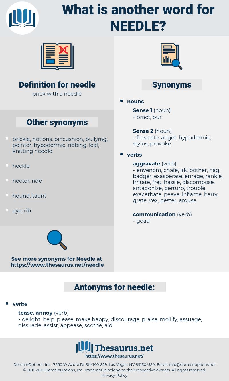 needle, synonym needle, another word for needle, words like needle, thesaurus needle