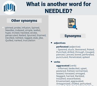 needled, synonym needled, another word for needled, words like needled, thesaurus needled