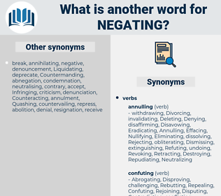negating, synonym negating, another word for negating, words like negating, thesaurus negating