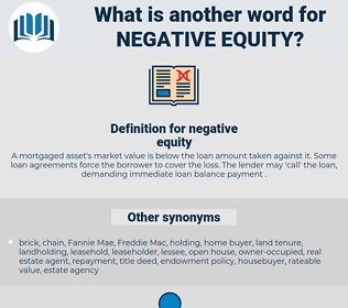 negative equity, synonym negative equity, another word for negative equity, words like negative equity, thesaurus negative equity
