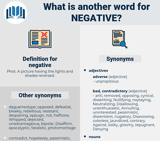 negative, synonym negative, another word for negative, words like negative, thesaurus negative