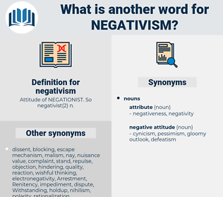 negativism, synonym negativism, another word for negativism, words like negativism, thesaurus negativism