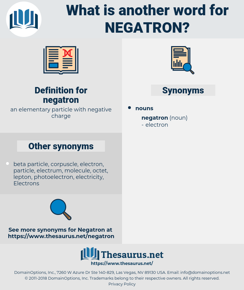 negatron, synonym negatron, another word for negatron, words like negatron, thesaurus negatron