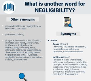 negligibility, synonym negligibility, another word for negligibility, words like negligibility, thesaurus negligibility