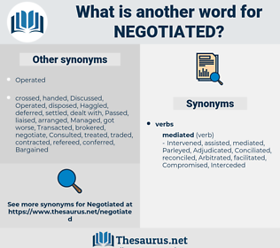 Negotiated, synonym Negotiated, another word for Negotiated, words like Negotiated, thesaurus Negotiated