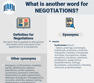 Negotiations, synonym Negotiations, another word for Negotiations, words like Negotiations, thesaurus Negotiations
