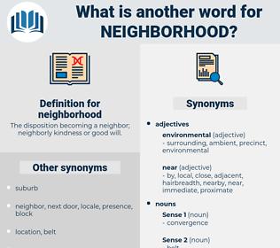 neighborhood, synonym neighborhood, another word for neighborhood, words like neighborhood, thesaurus neighborhood