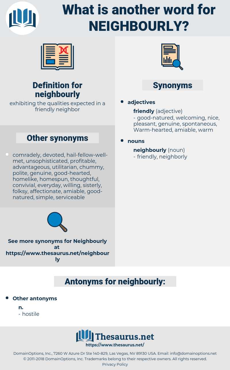neighbourly, synonym neighbourly, another word for neighbourly, words like neighbourly, thesaurus neighbourly