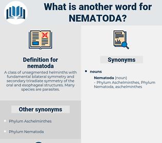 nematoda, synonym nematoda, another word for nematoda, words like nematoda, thesaurus nematoda