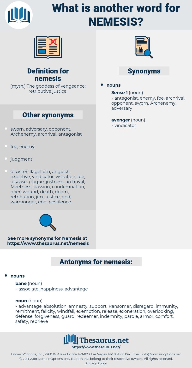 nemesis, synonym nemesis, another word for nemesis, words like nemesis, thesaurus nemesis