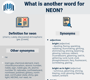 neon, synonym neon, another word for neon, words like neon, thesaurus neon