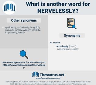 nervelessly, synonym nervelessly, another word for nervelessly, words like nervelessly, thesaurus nervelessly
