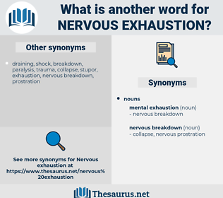 nervous exhaustion, synonym nervous exhaustion, another word for nervous exhaustion, words like nervous exhaustion, thesaurus nervous exhaustion