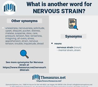 nervous strain, synonym nervous strain, another word for nervous strain, words like nervous strain, thesaurus nervous strain