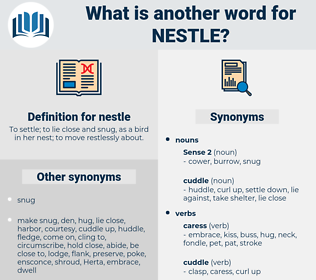 nestle, synonym nestle, another word for nestle, words like nestle, thesaurus nestle