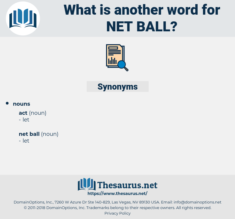 net ball, synonym net ball, another word for net ball, words like net ball, thesaurus net ball
