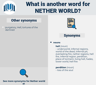 nether world, synonym nether world, another word for nether world, words like nether world, thesaurus nether world