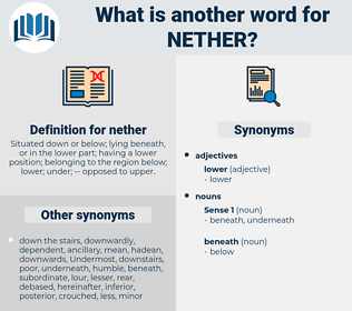 nether, synonym nether, another word for nether, words like nether, thesaurus nether