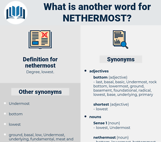 nethermost, synonym nethermost, another word for nethermost, words like nethermost, thesaurus nethermost