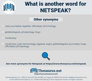 netspeak, synonym netspeak, another word for netspeak, words like netspeak, thesaurus netspeak
