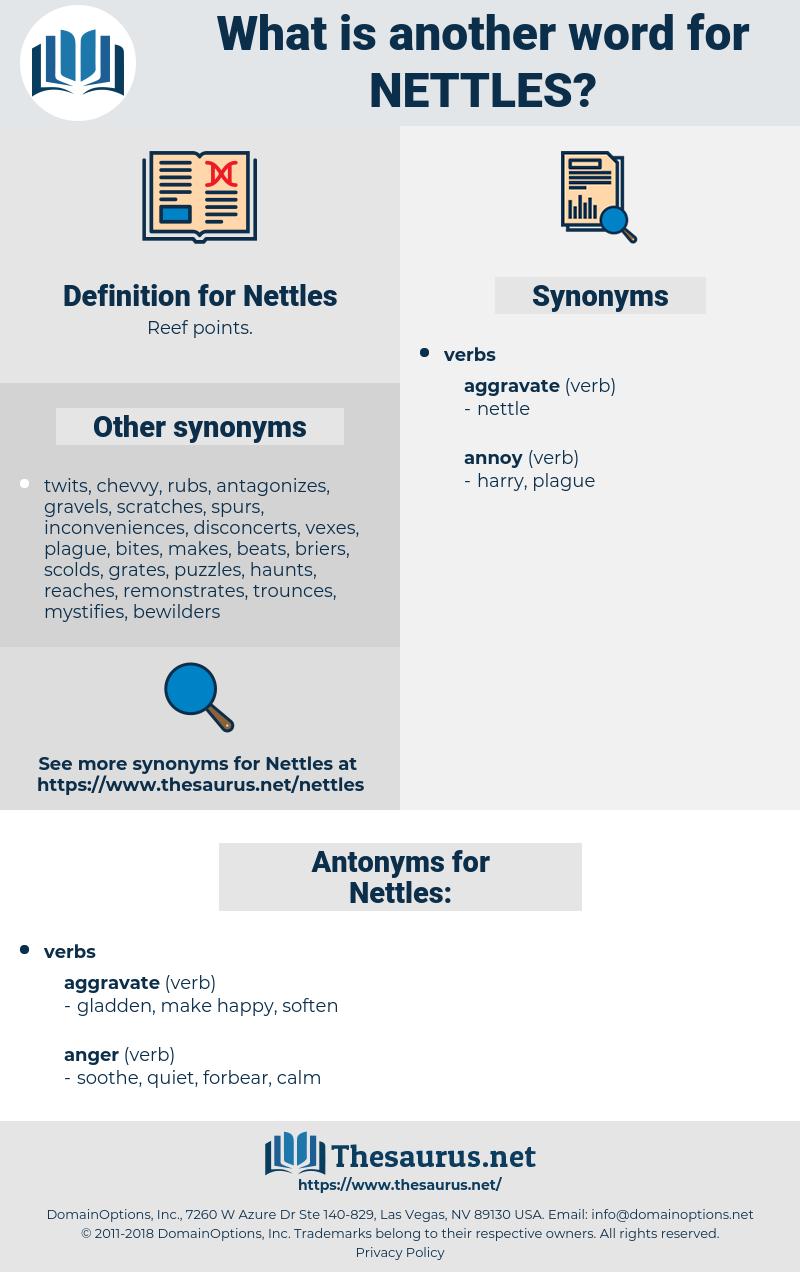 Nettles, synonym Nettles, another word for Nettles, words like Nettles, thesaurus Nettles