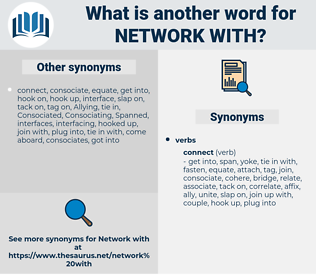 network with, synonym network with, another word for network with, words like network with, thesaurus network with