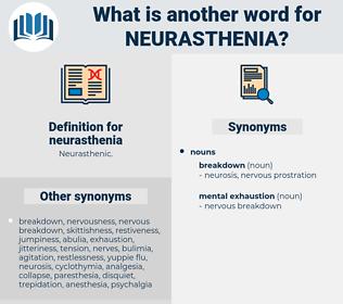 neurasthenia, synonym neurasthenia, another word for neurasthenia, words like neurasthenia, thesaurus neurasthenia