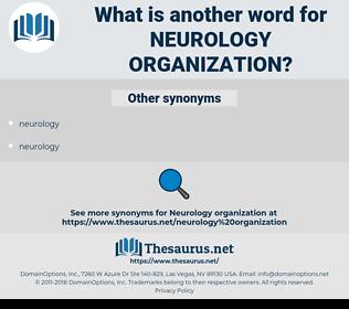neurology organization, synonym neurology organization, another word for neurology organization, words like neurology organization, thesaurus neurology organization