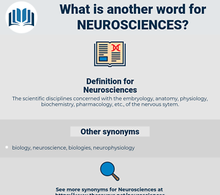 Neurosciences, synonym Neurosciences, another word for Neurosciences, words like Neurosciences, thesaurus Neurosciences