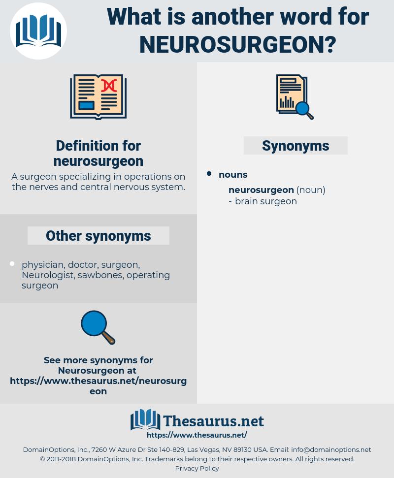 neurosurgeon, synonym neurosurgeon, another word for neurosurgeon, words like neurosurgeon, thesaurus neurosurgeon