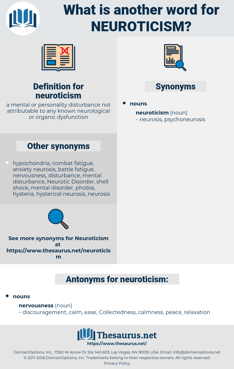 neuroticism, synonym neuroticism, another word for neuroticism, words like neuroticism, thesaurus neuroticism